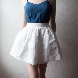 Express white high waisted skirt with pockets